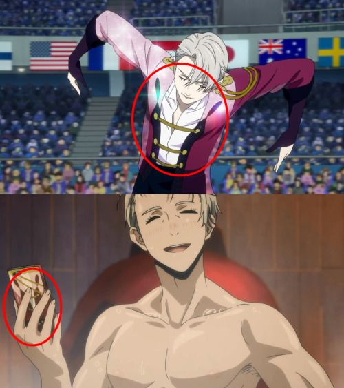 The same pattern on Victor Nikiforov's costumes and phone case >///< He's so hot!!  #yoi