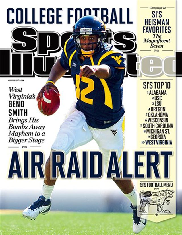 Geno Smith on the cover of Sports Illustrated!! WOO HOO!! Let's Go Mountaineers!!