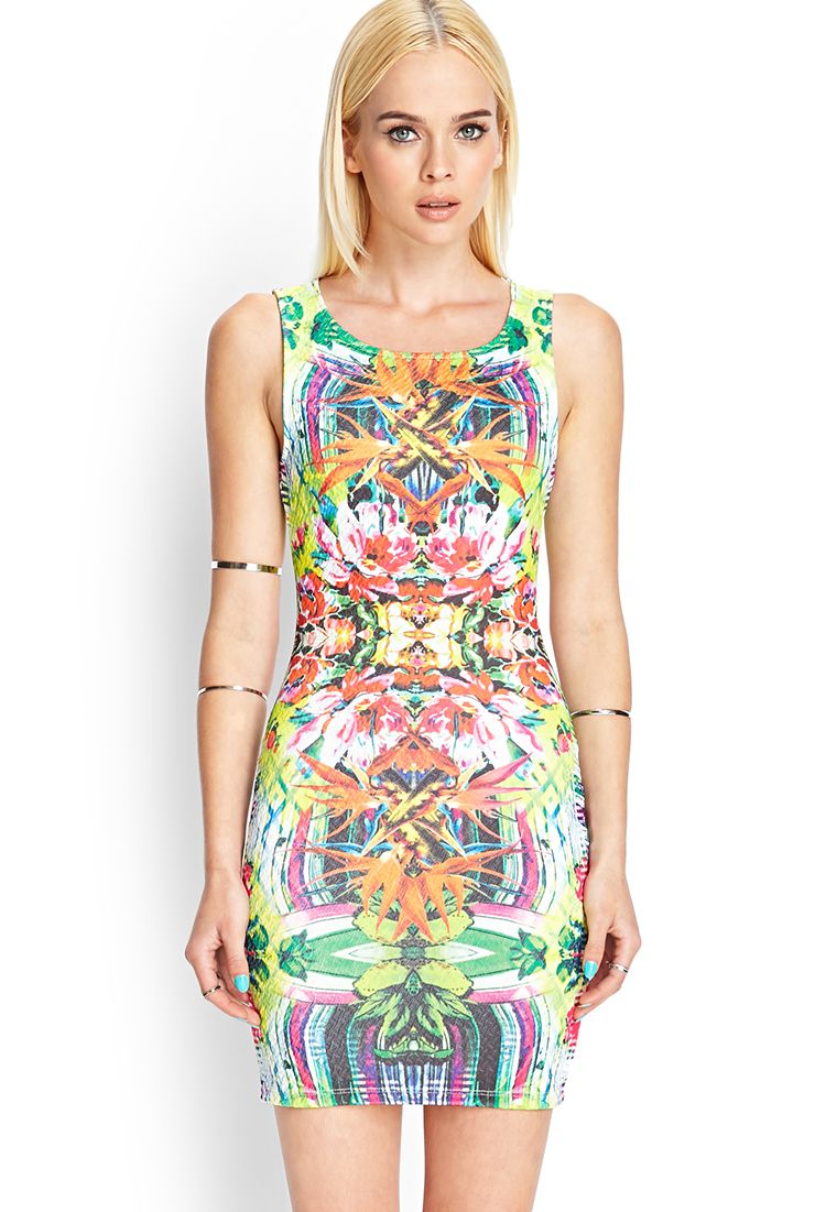 Bright Island Tank Dress   FOREVER21 #SummerForever and #F21xMe