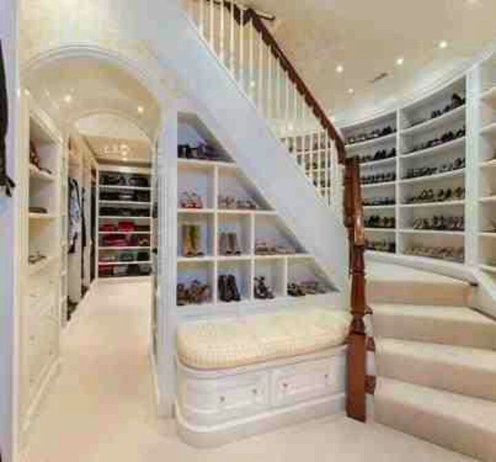 downstairs is shoe and handbags closet upstairs is clothes