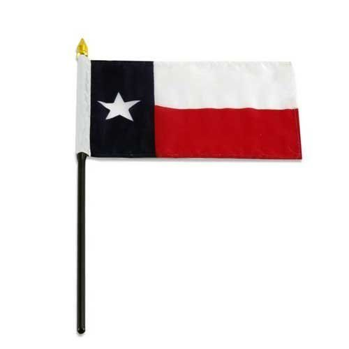 Texas Flag 4 X 6 Inch By Us Flag Store 1 92 A Quality Printed Flag With Sewn Edges Texas Flag Low Cost Shipping Available Mounted On A 10 Inch Plastic Sti