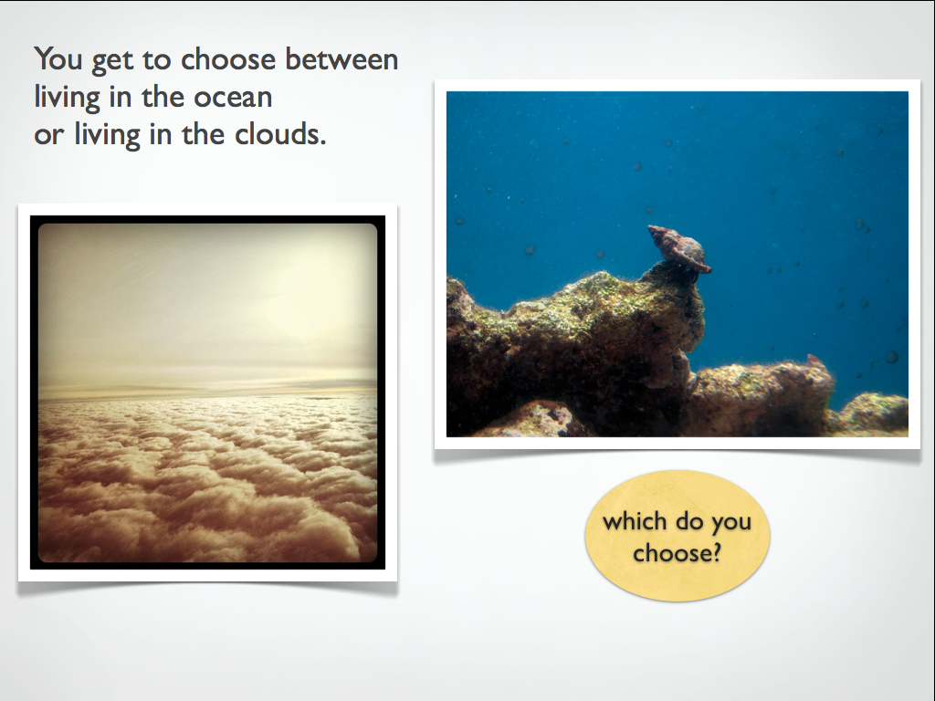You Have To Choose Between Living In The Ocean Or Living
