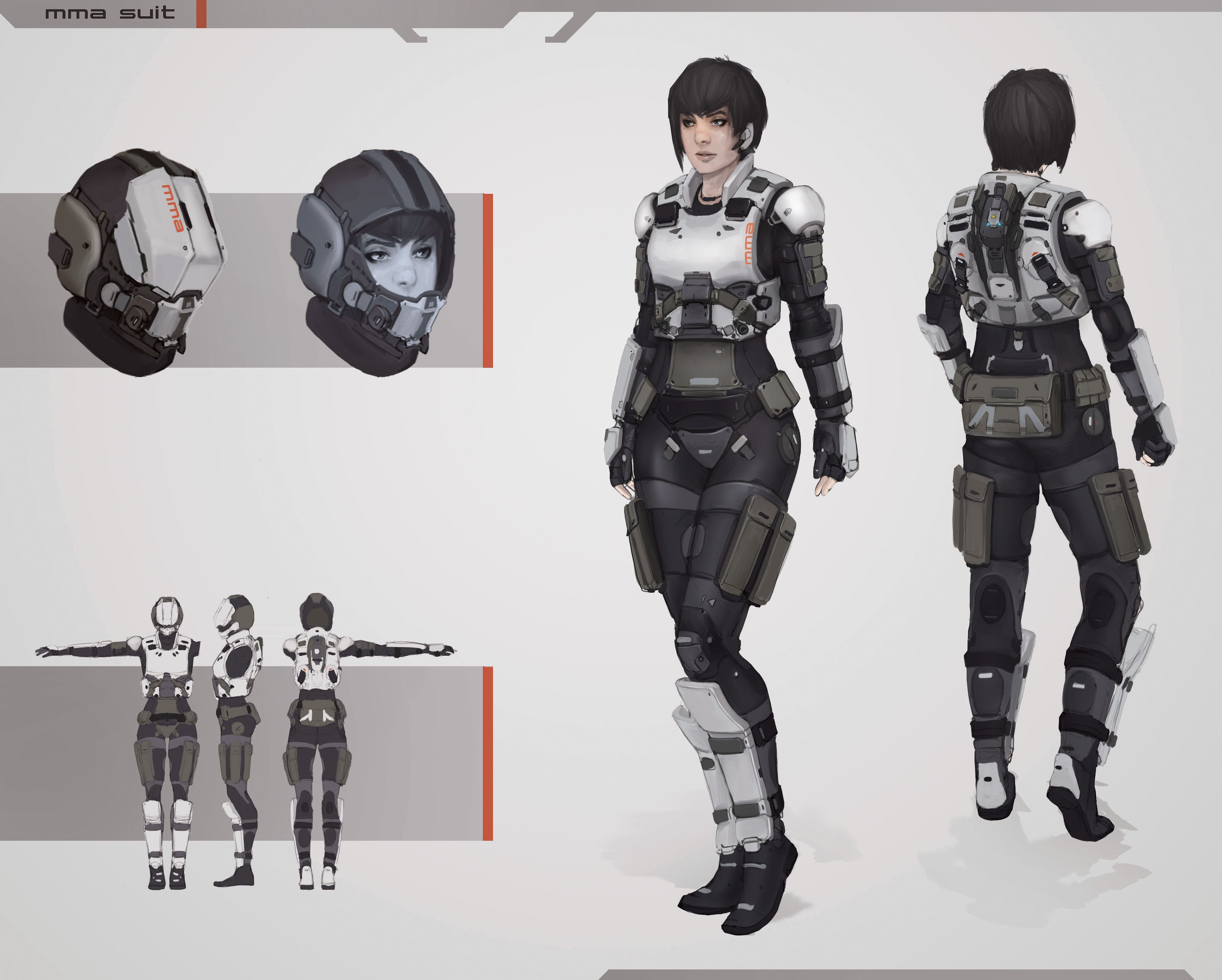 Female armor hahdko pinterest sci fi character for Female space suit