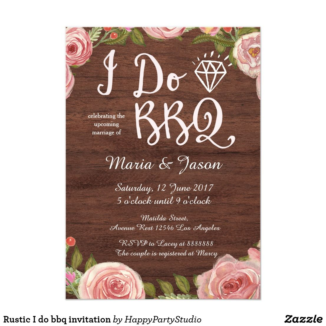 Rustic I Do Bbq Invitation Country Wedding Inspirations