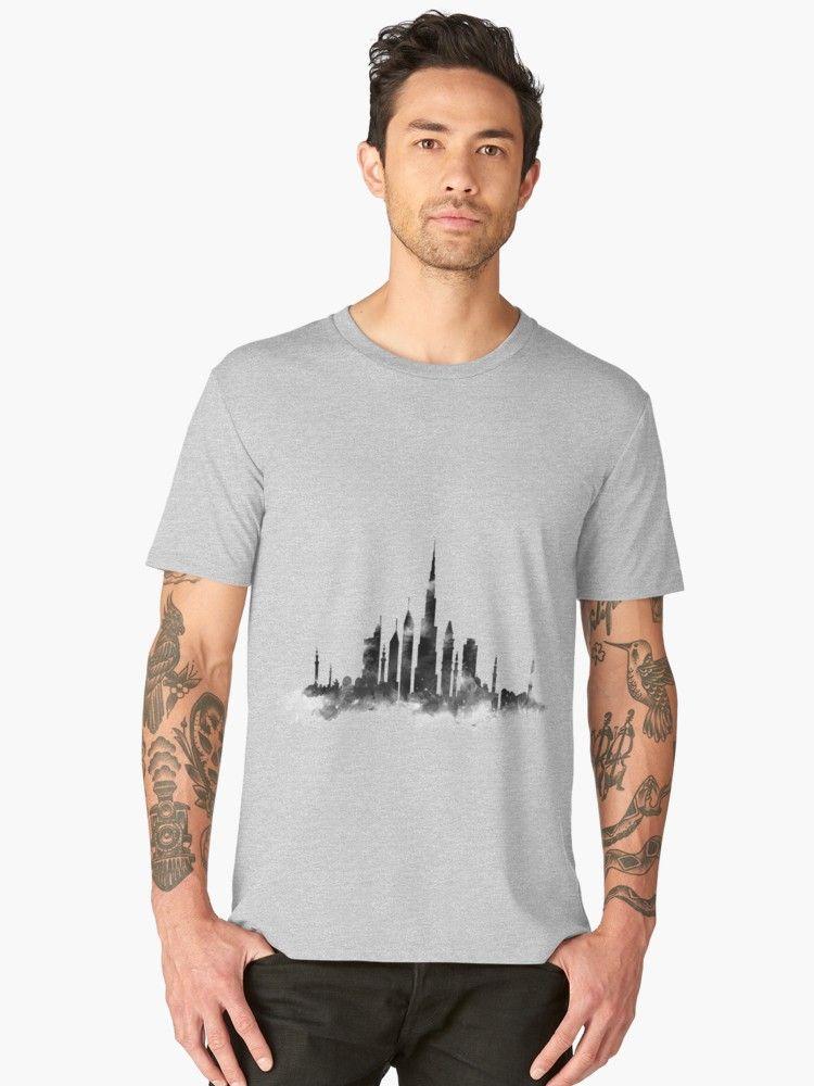 Dubai Skyline Premium T Shirt Von Monnprint T Shirt Skyline Dubai