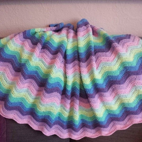Crochetsnuggles Crochet Ripple Blanket Chevron Crochet Pinterest