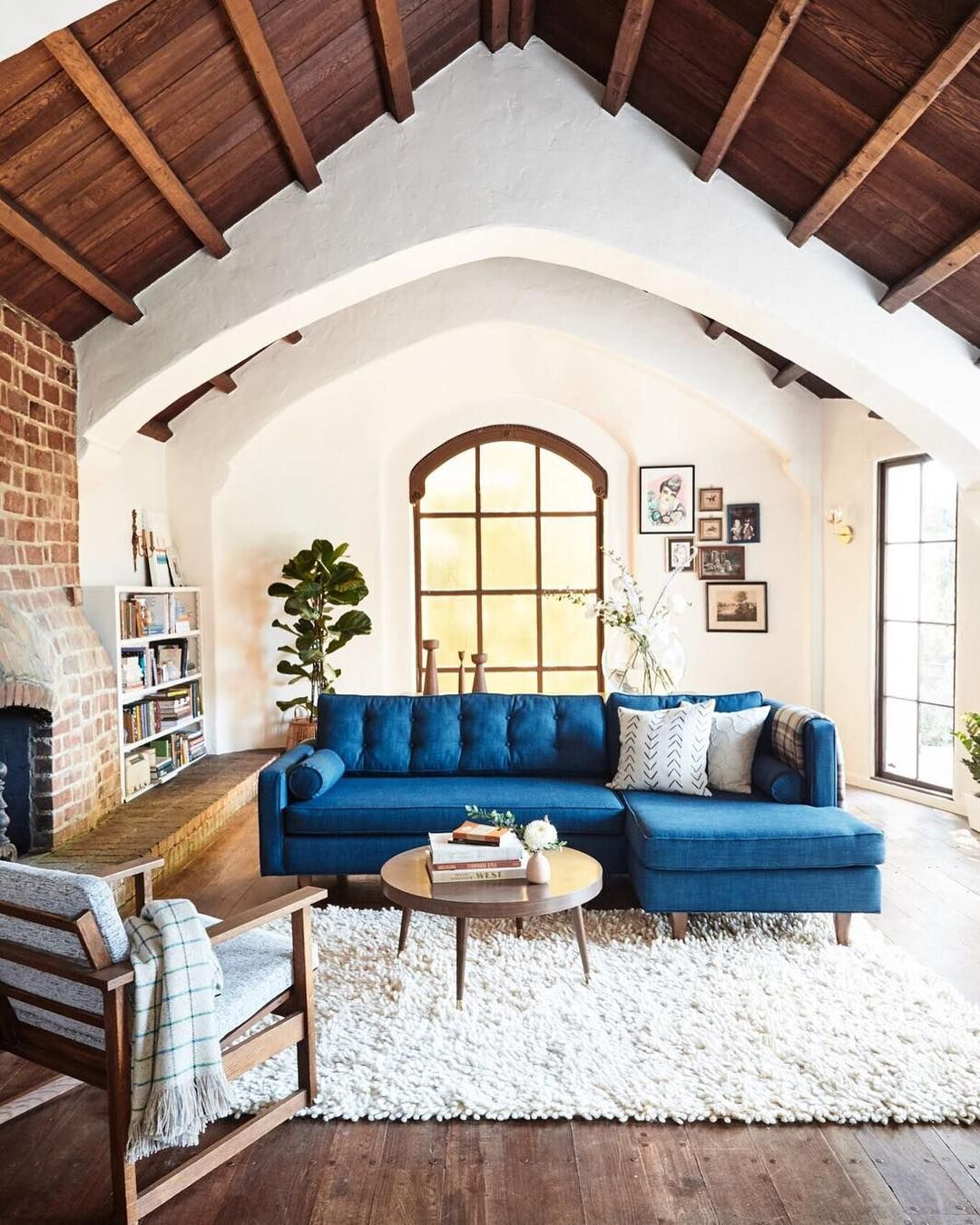 Check Out Sunny California Home Remodel With One Of Our Chunky Shag Rugs!  We Also Have To Say That Those Exposed Beams Are Giving Us All Of The Heart  Eyes ...