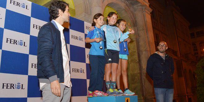 Alta participación en la IV carrera nocturna-corre por Ferrol