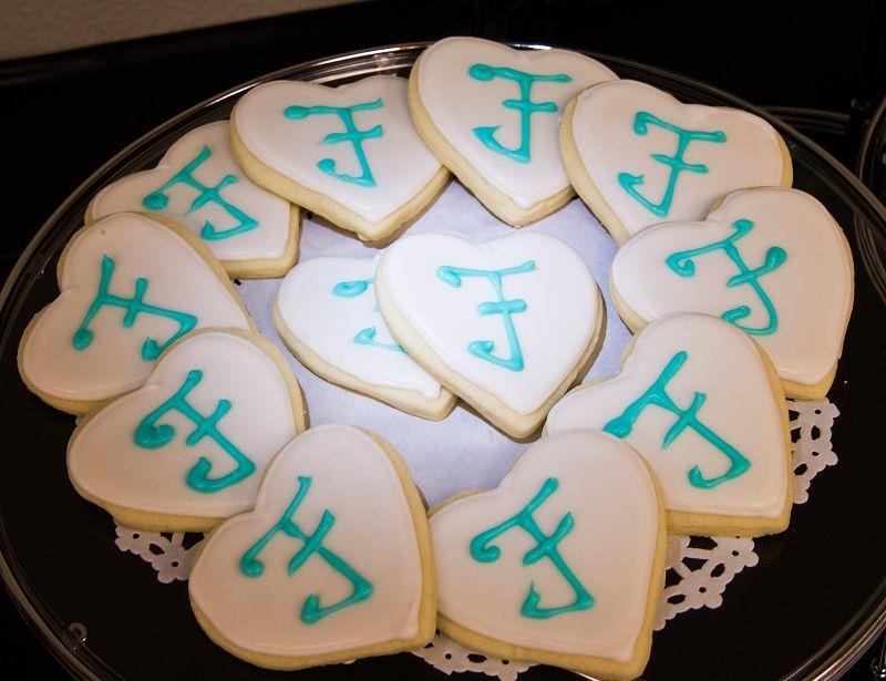 Lemon scented sugar cookies with monogram
