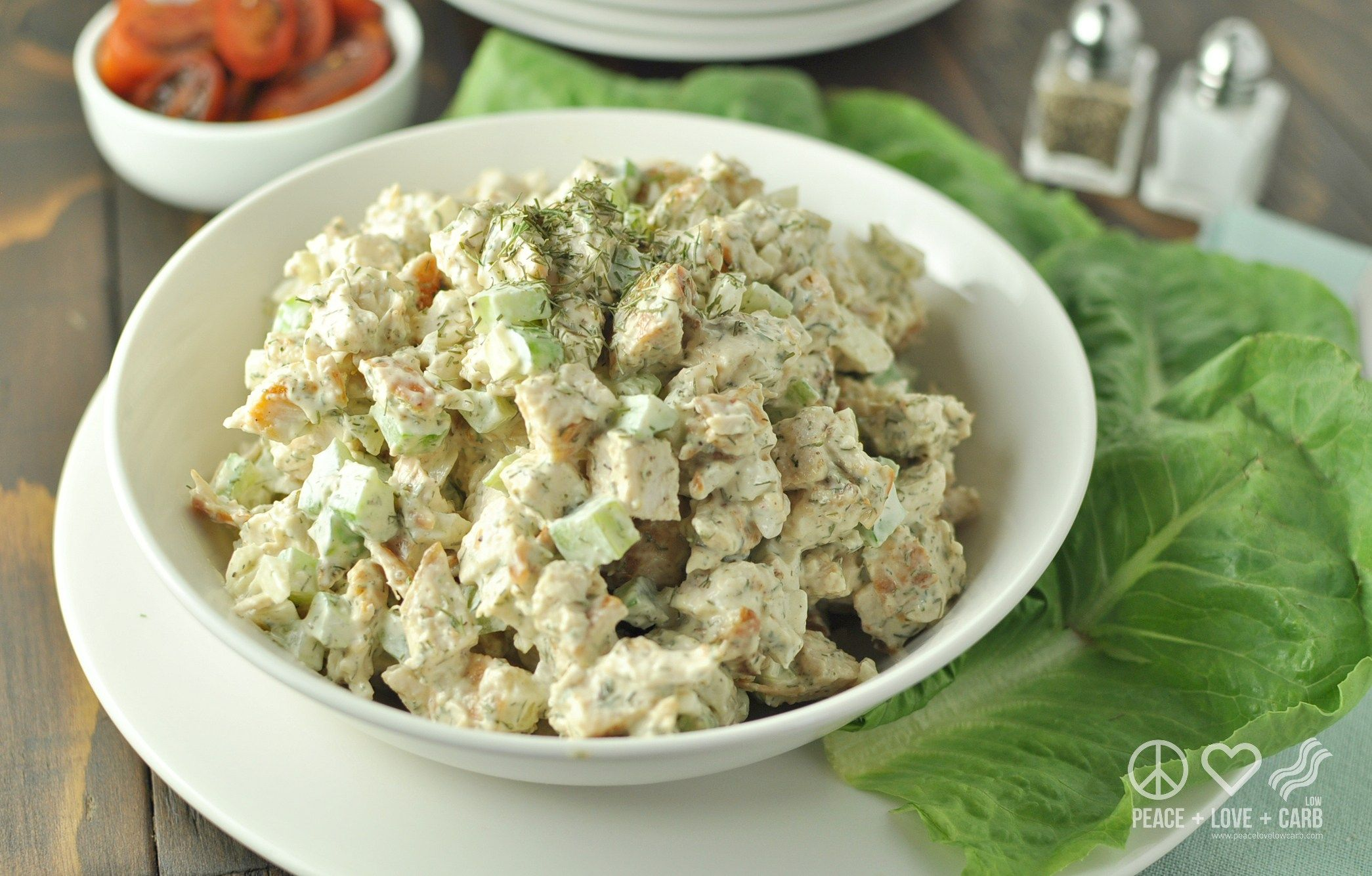 Elb use food processor but pulse only to get larger pieces also dill chicken salad peace love and low carb forumfinder Images