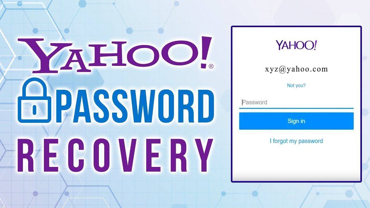 How To Recover My Yahoo Account Account Recovery Email Service