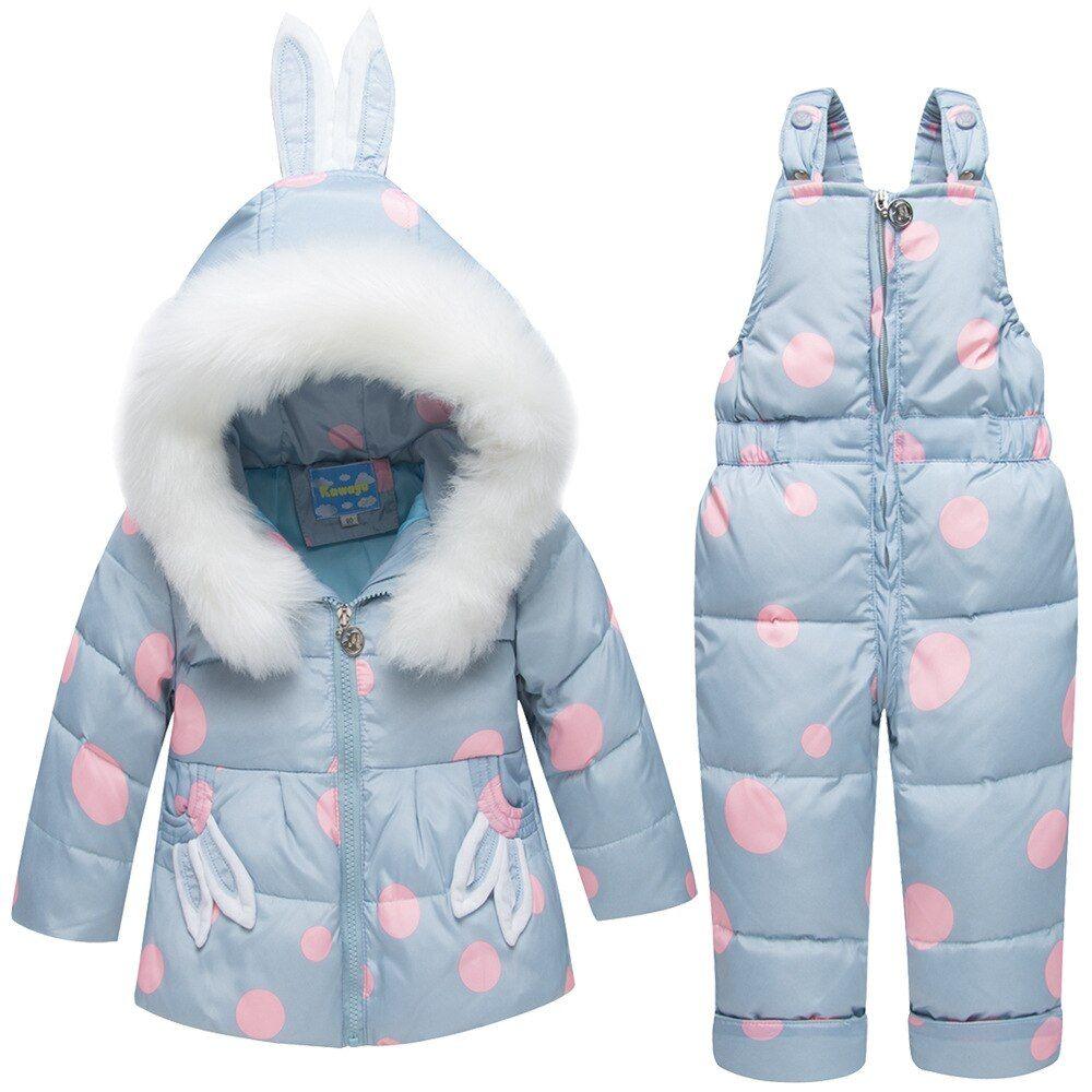 50cf8ff6adc Winter Children's Snowsuit Quality White Duck Down Baby Girl Winter ...