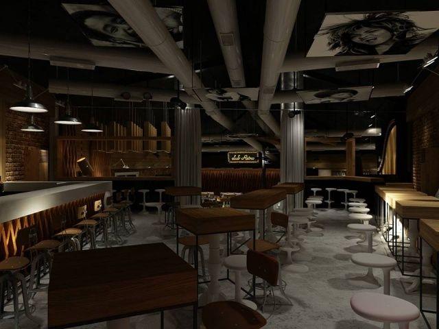 retro nachtclub inneneinrichtung holz bartische vintage   Referenzen ...