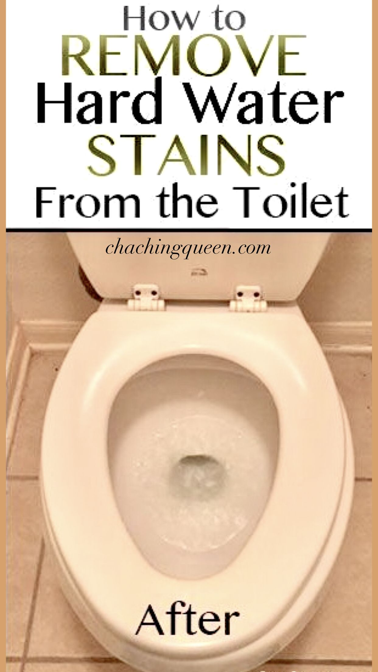 How To Clean A Toilet And How To Remove Hard Water Stains Hard Water Stains Hard Water Stain Remover Toilet Stains