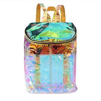 Amazon Com Zicac Clear Bag Transparent Hologram Holographic