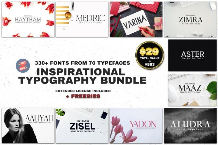"Download ""Let this Inspirational Typography Kit"" be your magic wand ..."