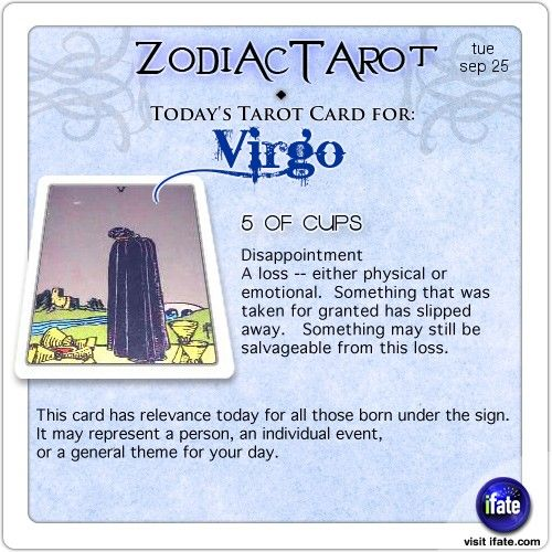 Todays Virgo tarot card: Hey Virgo, your daily horoscope for the day is interesting! Visit iFate.com today!