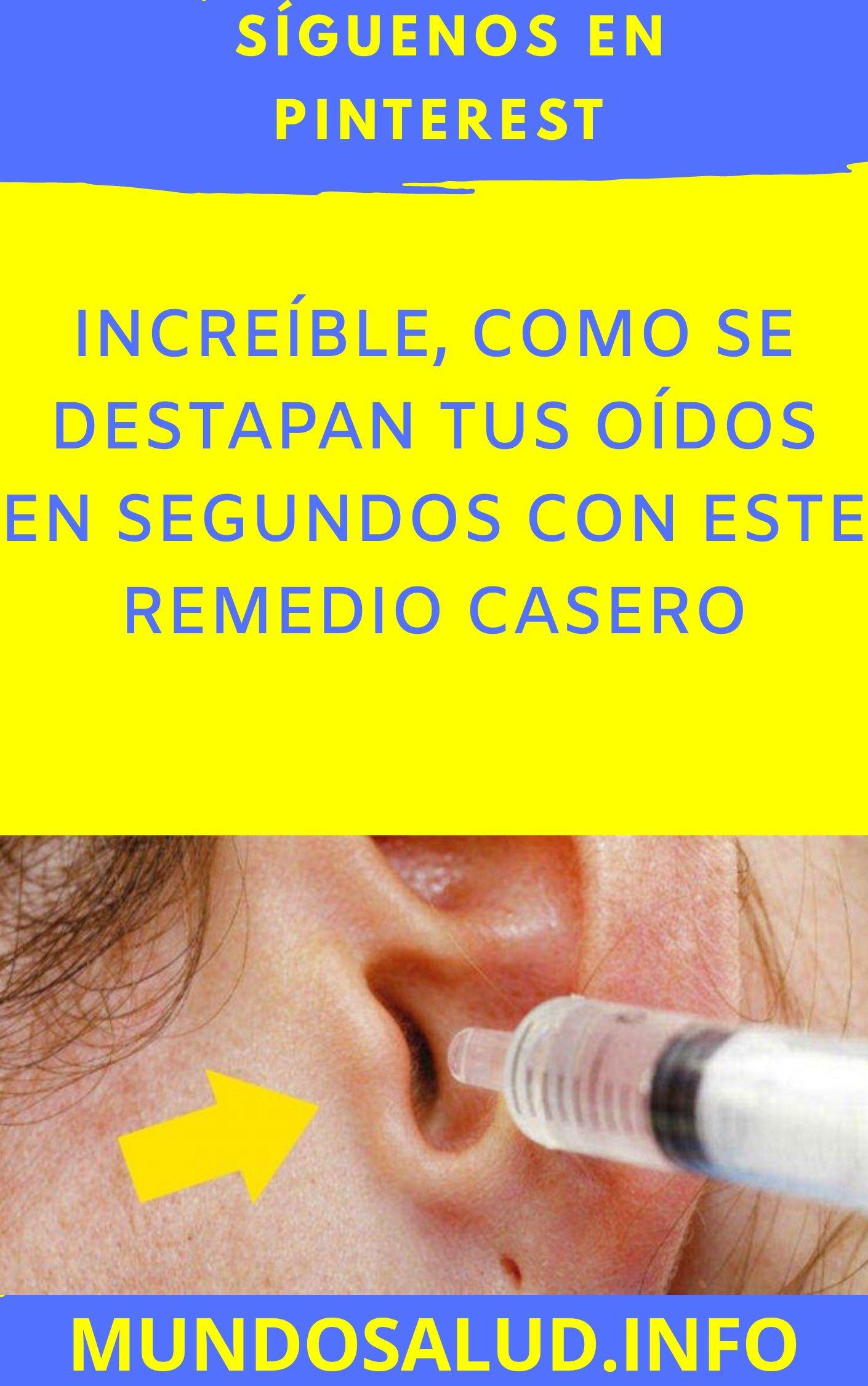oido tapado sin dolor remedio