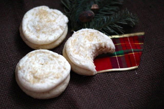 Big Soft Frosted Eggnog Sugar Cookies