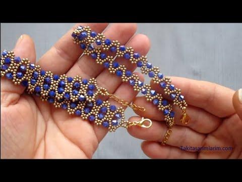 Bir Teknikle İki Farklı Kristal Boncuklu Bileklik
