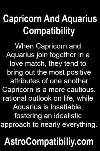 Capricorn woman and aquarius love match