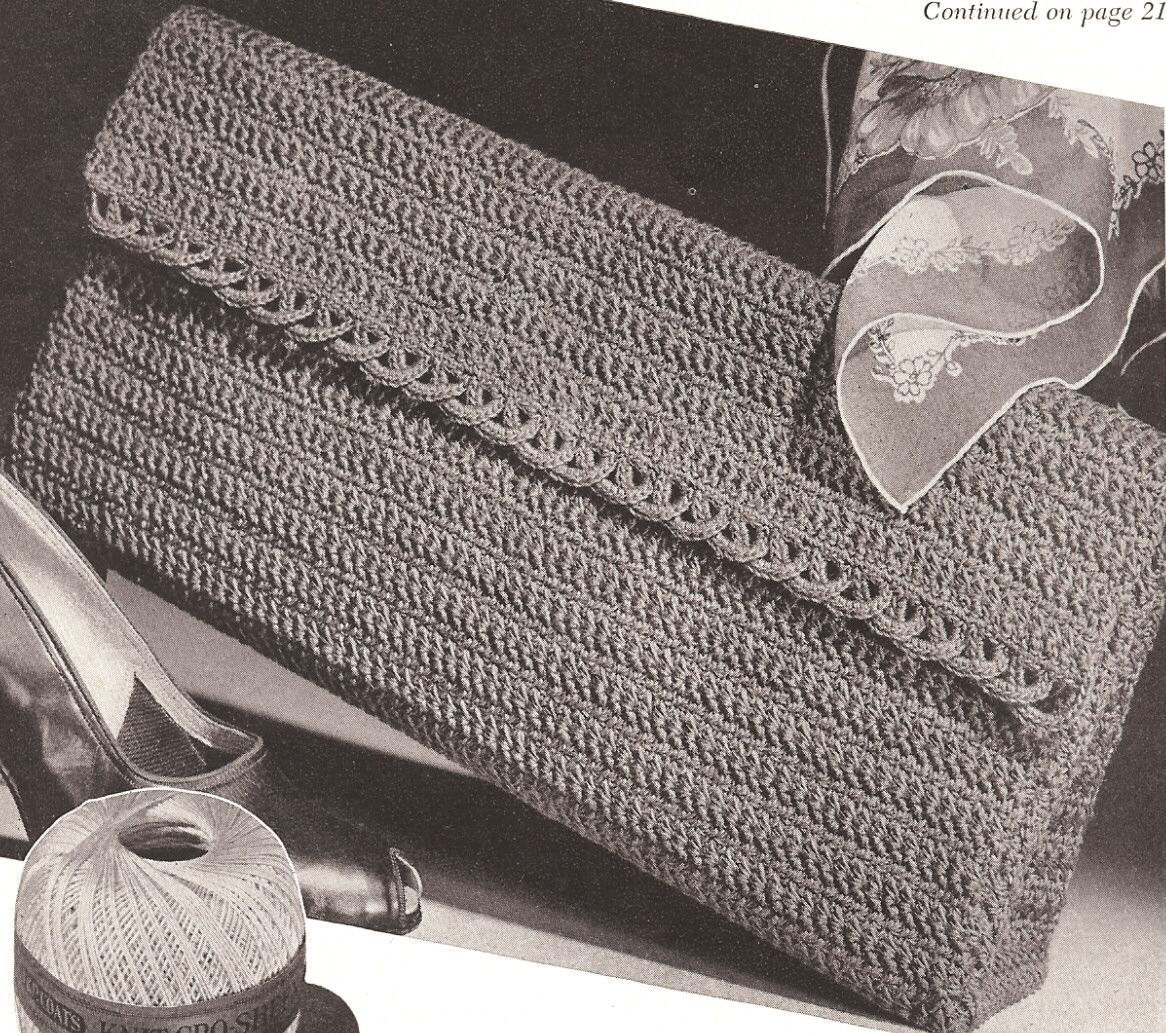 Vintage crochet envelope clutch bag purse pattern envelope vintage crochet envelope clutch bag purse pattern bankloansurffo Gallery