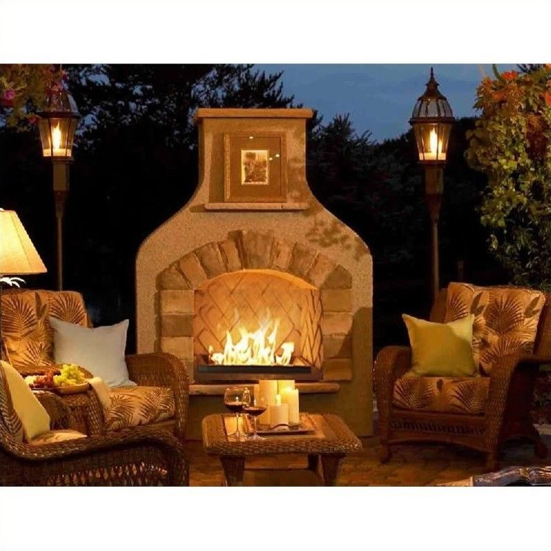 Outdoor Greatroom Company Sonoma Gas Fireplace Surround In Mocha Sonfs42 M K Outdoor Fireplace Designs Backyard Fireplace Outdoor Fireplace