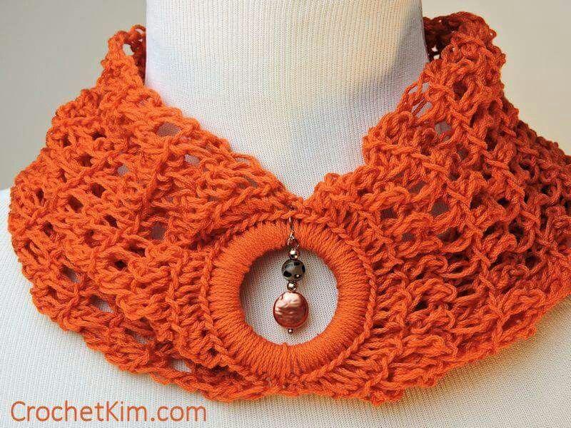 Cowl necklace | tejidos | Pinterest | Bufanda cuello, Cuellos ...