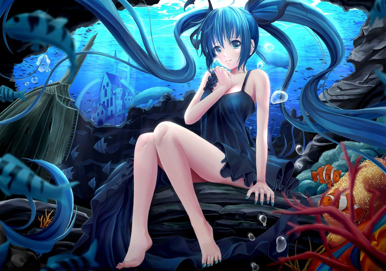 Pin by Y!n on CG Anime, Hatsune miku, Sea illustration