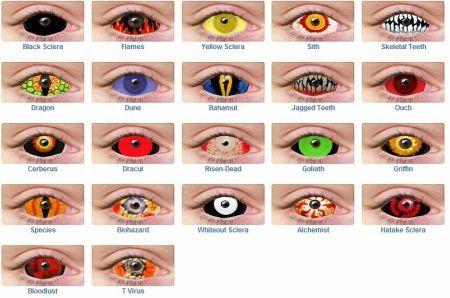 Crazy Color Contacts Halloween Contact Lenses Color Contacts For Halloween Colored Contacts