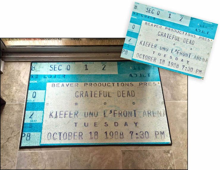 turn old ticket stubs into a door mat or other gifts