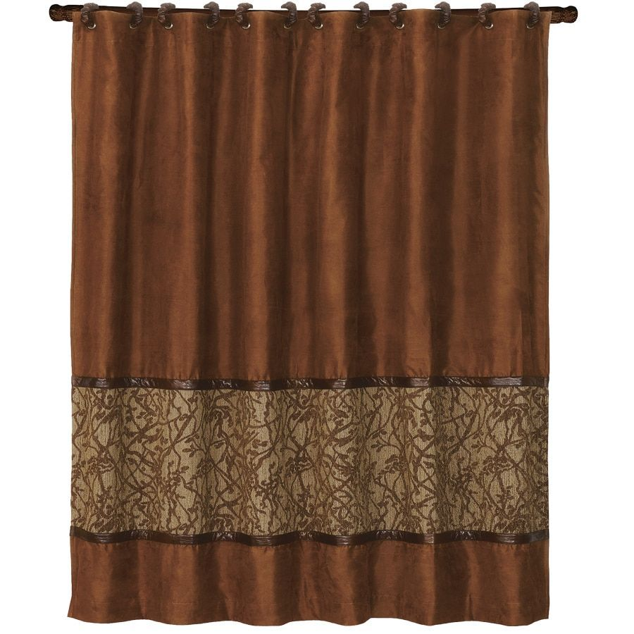 Hiend Accents Highland Lodge Shower Curtain 72x72 Shower Curtains