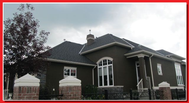 I think the exterior of this house is very striking. The combination of the dark brown paint and the crisp gray roof is not one you see often. I really like it here.