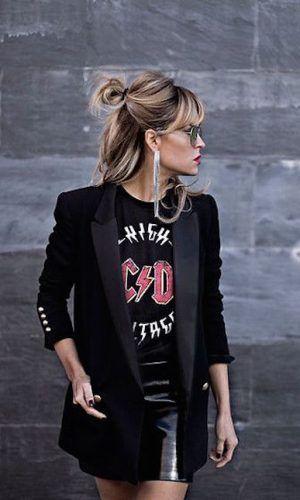 Conseils et idées de tenues avec une jupe en jean en cuir     – Inspi look