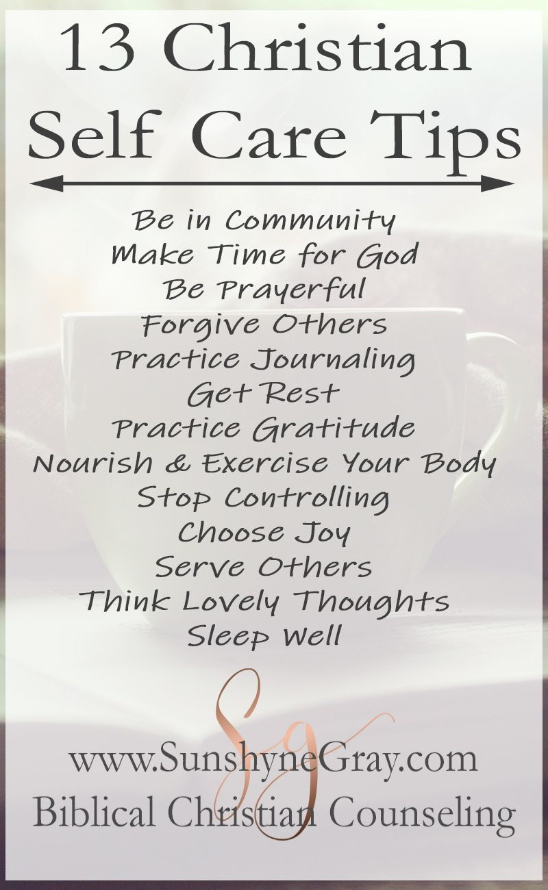 13 Christian Self Care Tips Self care, Spiritual health
