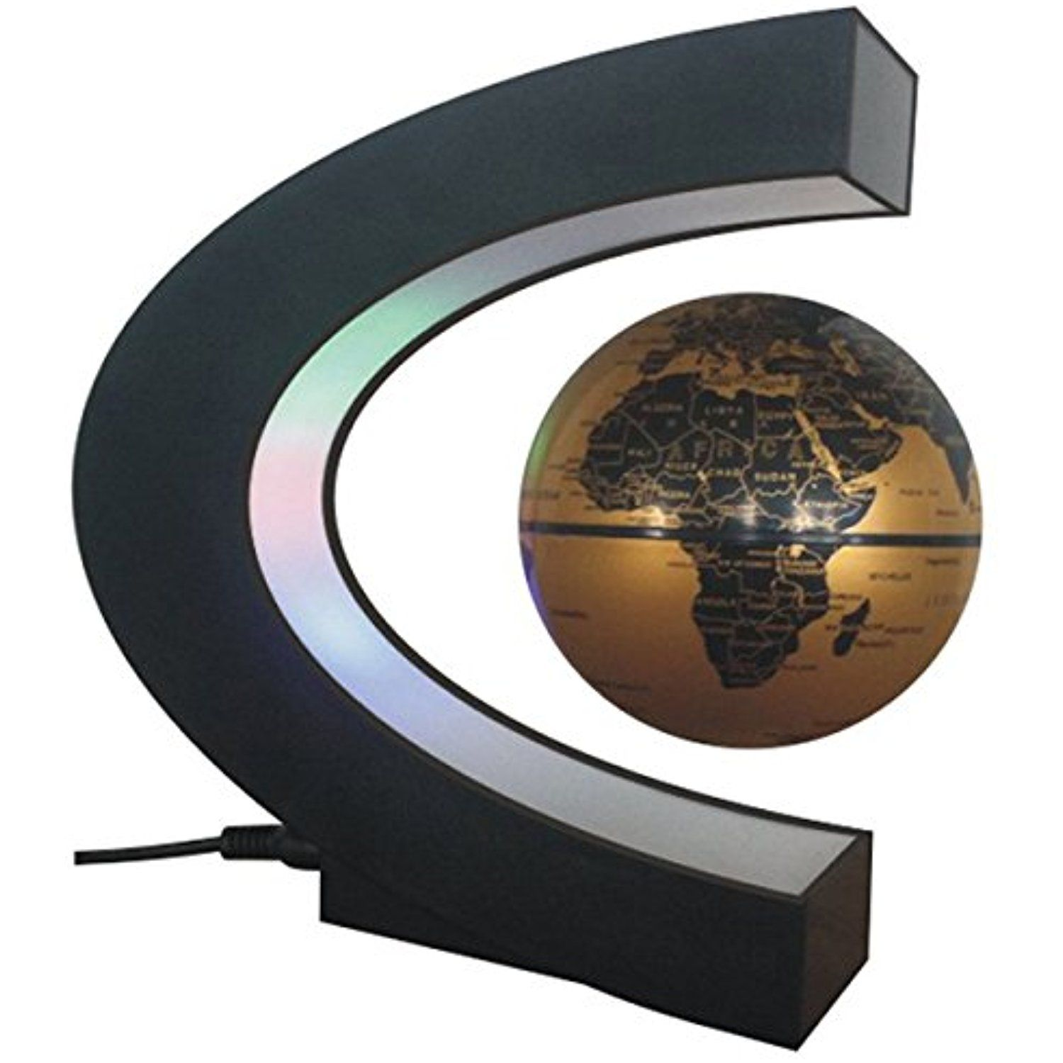 Funny c shape magnetic levitation floating world map globe funny c shape magnetic levitation floating world map globe rotating mysteriously suspended in air with led gumiabroncs Gallery