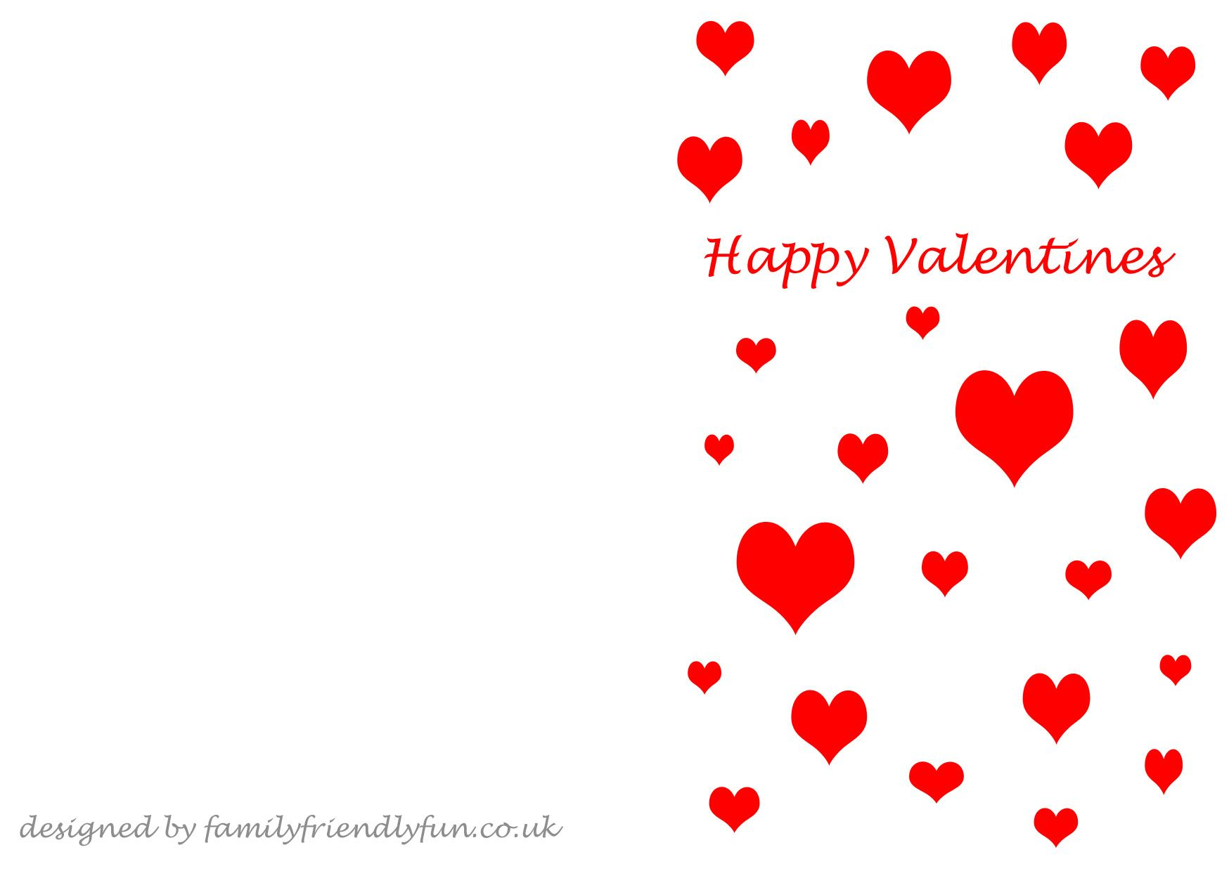 valentines cards for children free printable template - Valentine Templates Printable