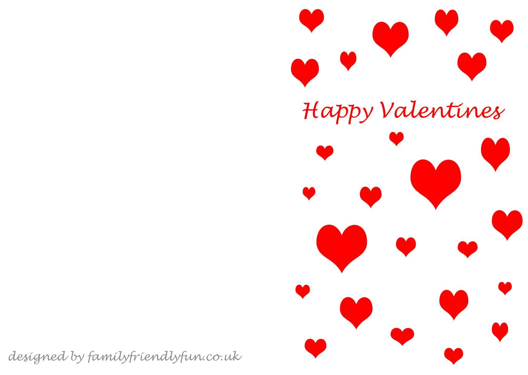 Valentine S Card Templates