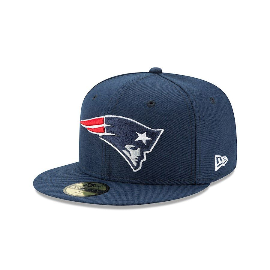 Men s New England Patriots New Era Navy Team Logo Omaha 59FIFTY Fitted Hat 17bba7ad9b83