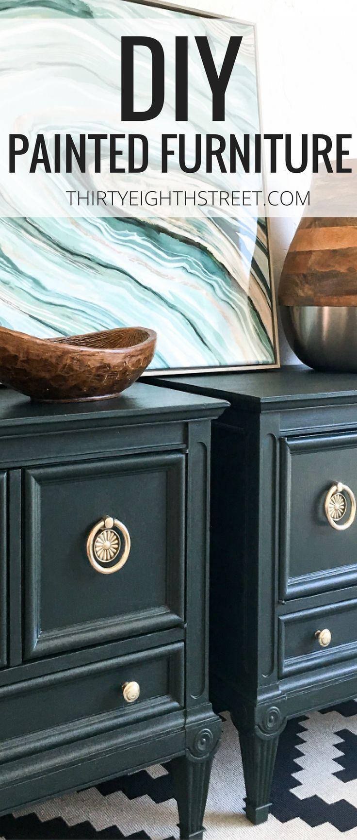 Refinishing Furniture With Pure Original Paint Painting Furniture Diy Painted Night Stands Painted Furniture