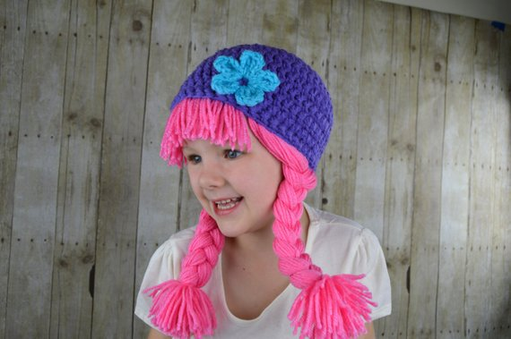 6c6933019f1 Baby Hats Photo Props Baby Costumes Pink Wigs Pigtail Wig