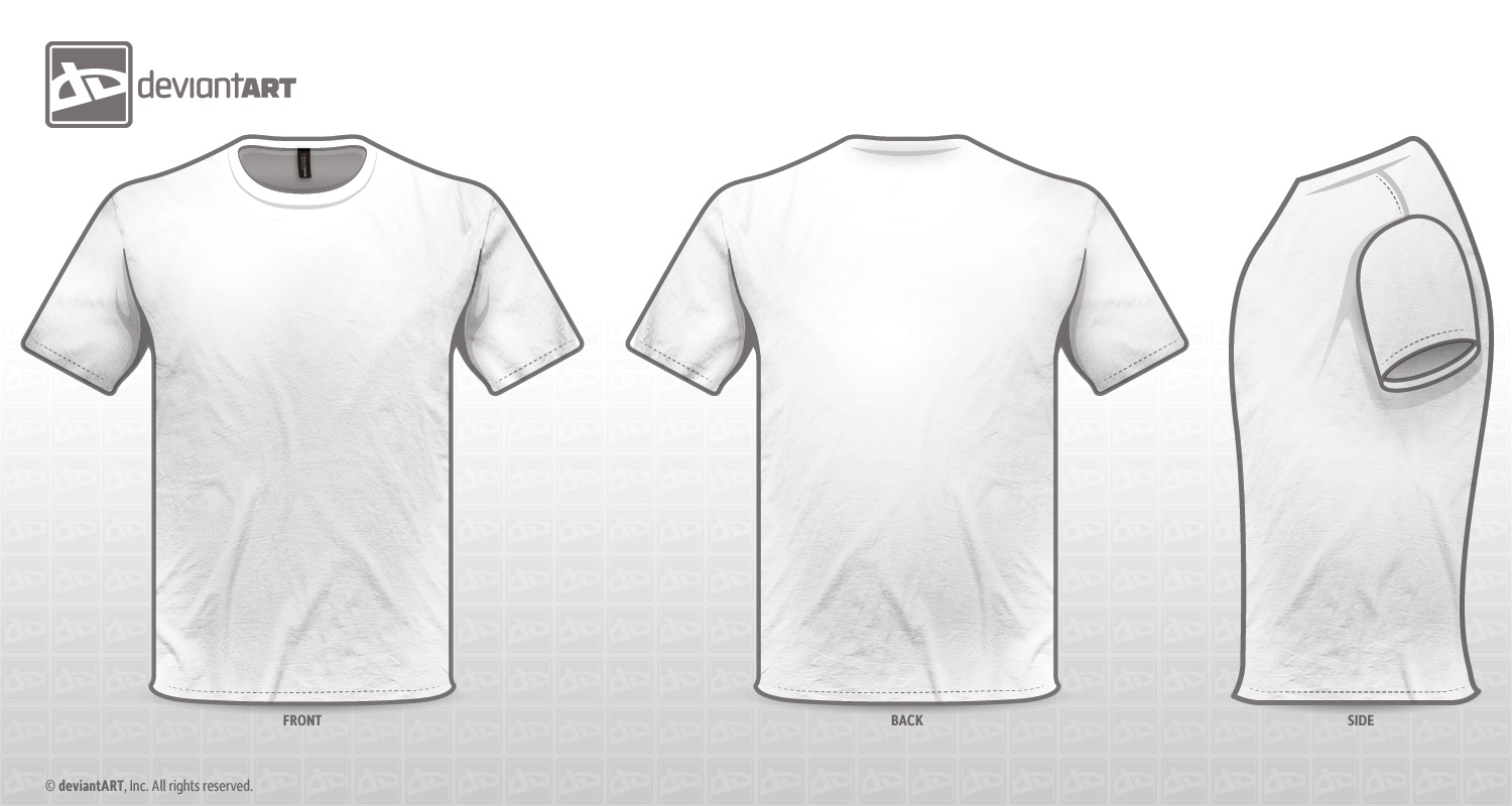 White T Shirt Back Template Projects To Try Pinterest