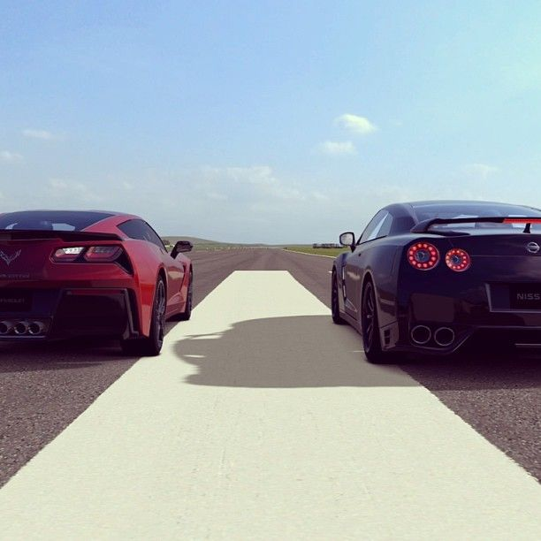 Which super car would you put your money on to win this race? My bets on the Corvette