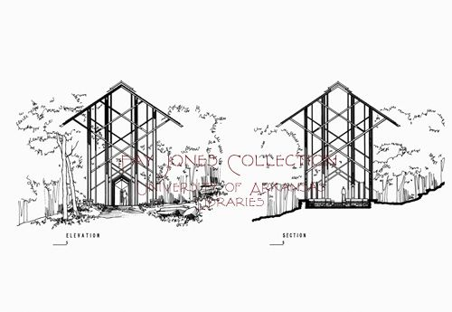 Project Gallery Fay Jones Collection University Of Arkansas Libraries Thorncrown Chapel Architecture Drawing University Of Arkansas