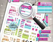 Seller Stickers, Printable Planner Stickers, Tracking Stickers, Stats Boxes, Cute Stickers, Erin Condren, Order Sticker, Planner Accessories