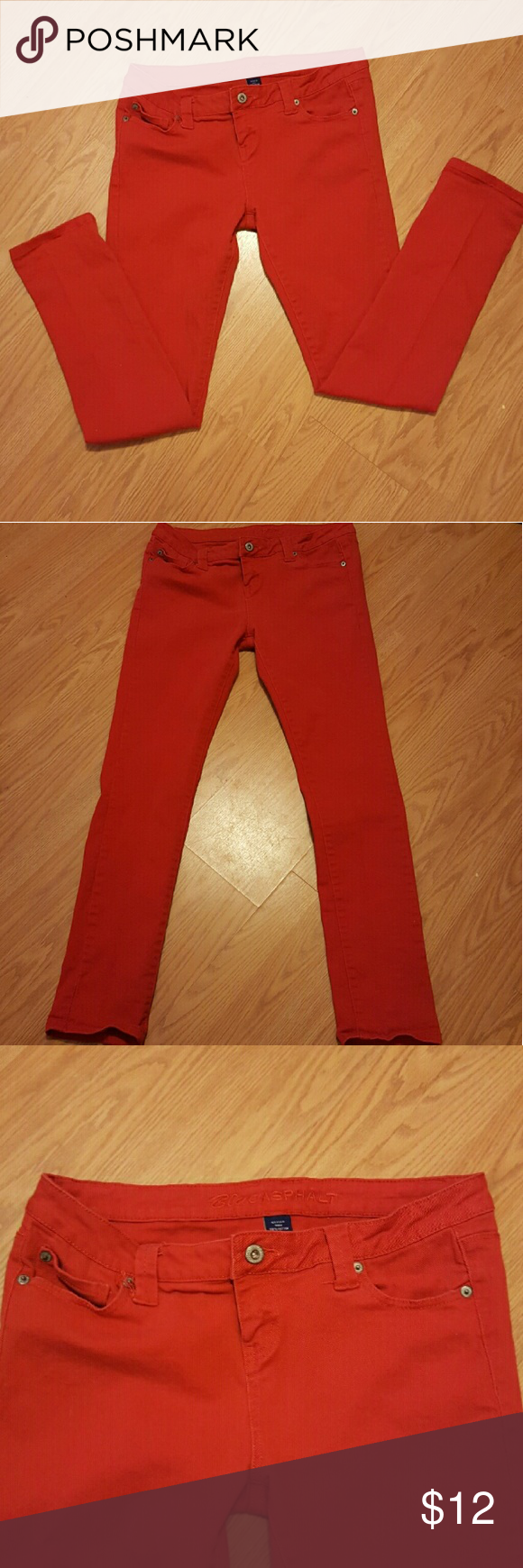 Women's Red skinny jeans Red skinny jeans from Wet Seal. Juniors size 13 in great condition. Price firm. Jeans Skinny