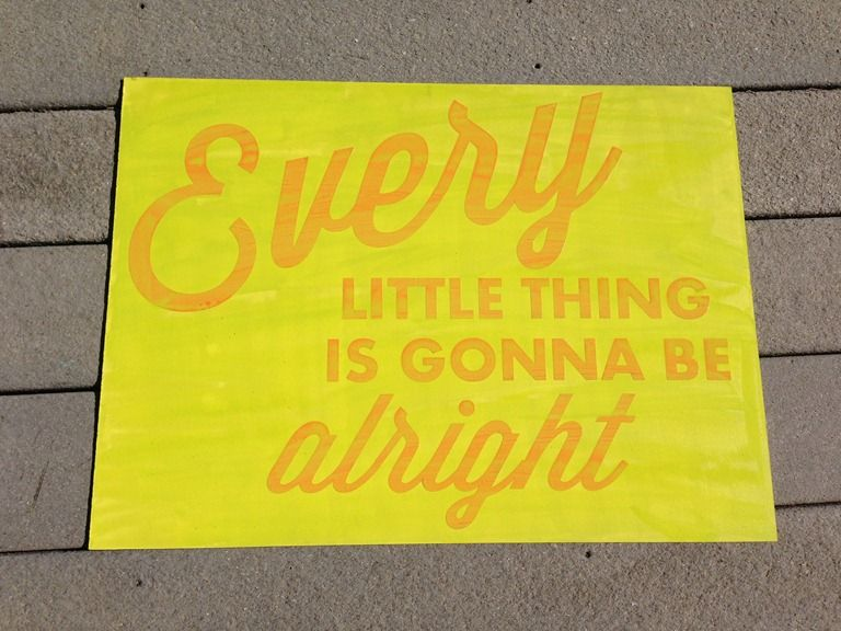 Reverse Stenciled Signs - Crap I've Made
