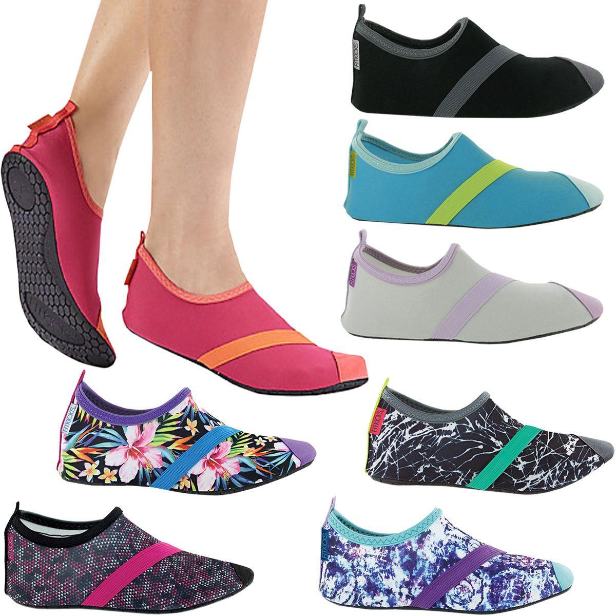 Womens Fitkicks Barefoot Yoga Ergonomic Non-Slip Sole Active Shoes