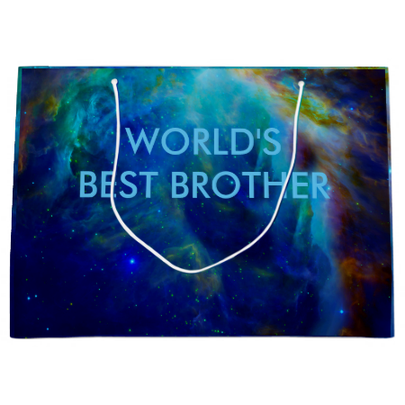 World's best brother gift bags Orion Nebula