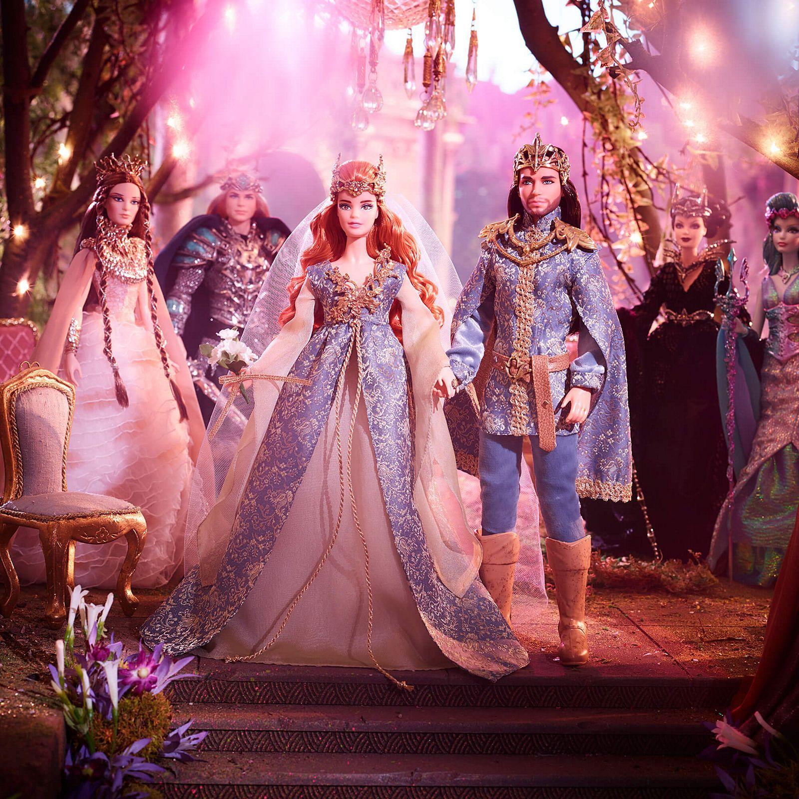 Barbie Faraway Forest Fairy Kingdom Wedding Dolls Gift Set